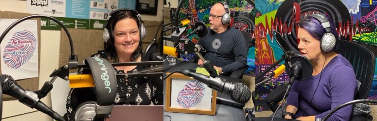 Authenticity Matters Host interviewing guests in KXRW Studio
