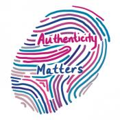 Authenticity matters thumb print logo